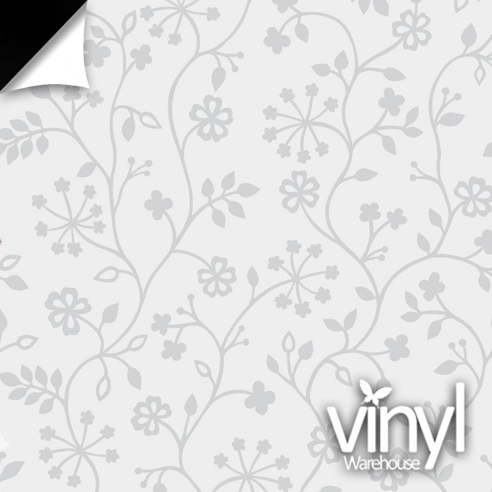Floral White Vine Static Decorative Window Film (338-5013) 90cm x 1.5m